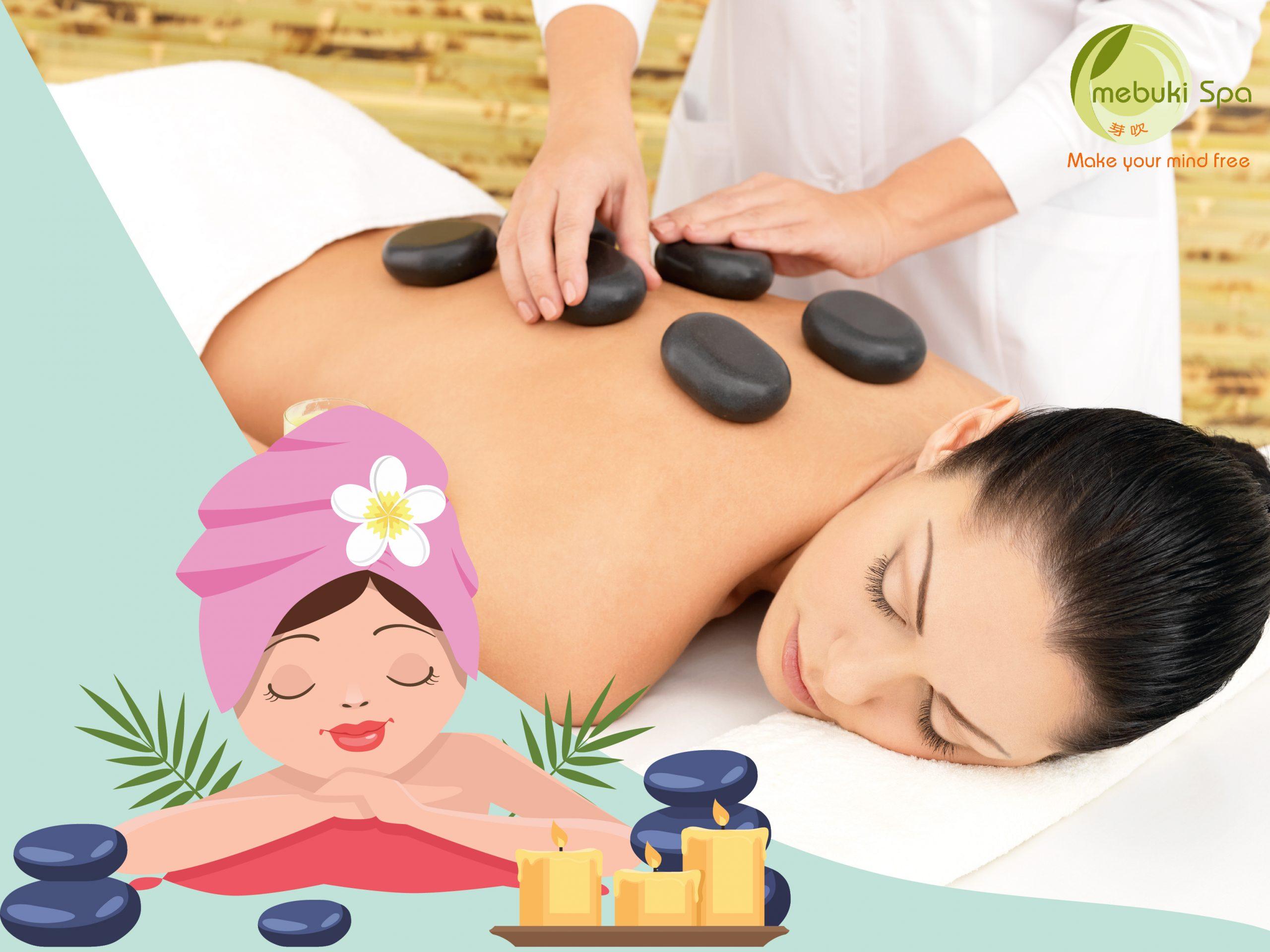 Massage kết hợp đá nóng